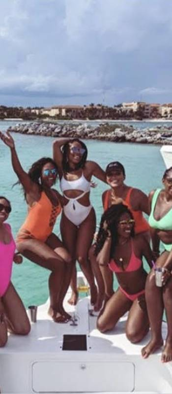 Private yacht charter party